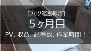 ブログ運営報告 1ヵ月目の画像