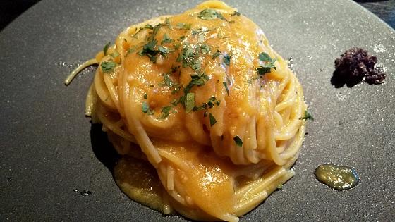 【優待ご飯】バルニバービ (3418)! GARB CENTRAL(ガーブ セントラル)でイエロートマトソーススバゲッティを食べてきました♪