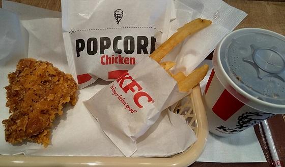 【優待ご飯】日本KFCホールディングス (9873)のケンタッキーでポップコーンチキンを食べてきました♪