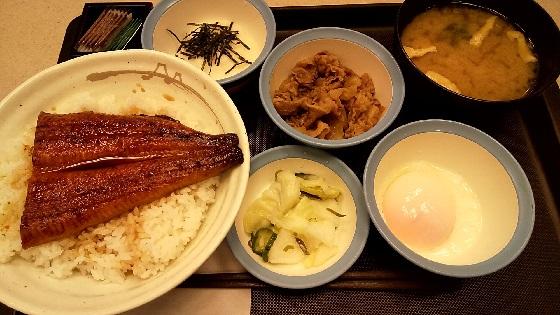 【優待ご飯】松屋フーズホールディングス (9887)の松屋で「うなとろ牛皿御膳 (大盛り)」を食べてきました♪