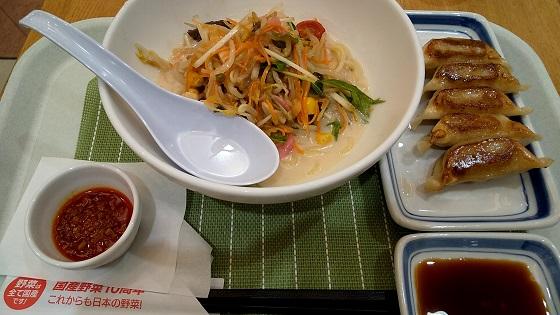 【優待ご飯】リンガーハット (8200)のリンガーハットで冷やしちゃんぽん(小さいサイズ)ぎょうざセットを食べてきました♪