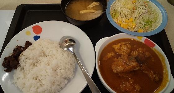 【優待ご飯】松屋フーズホールディングス (9887)の松屋で「ごろごろチキンのバターチキンカレー生野菜セット」を食べてきました♪