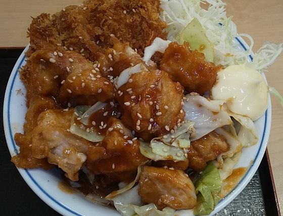 【優待ご飯】アークランドサービス(3085)の「かつや」で「鶏ちゃん焼きチキンカツ丼」を食べてきました♪