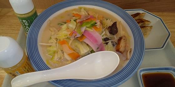 【優待ご飯】リンガーハット (8200)の「リンガーハット」で「野菜たっぷりちゃんぽん」+「アンケート回答の餃子3個」を食べてきました♪