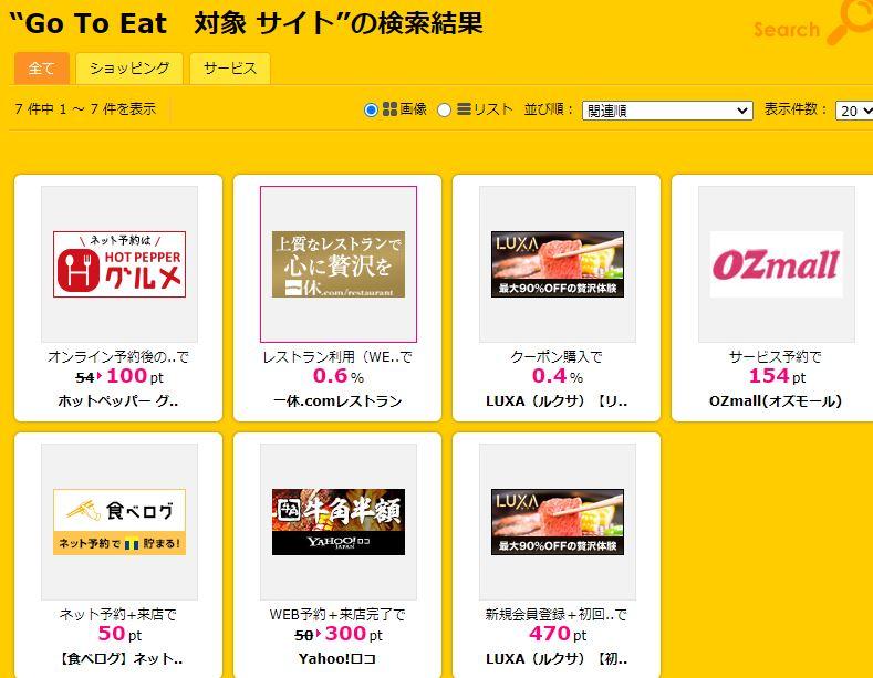 【節約】【お得】Go To Eatの予約はハピタス経由不可避!! 食べログで50pt、ホットペッパーで100ptなどもらえる!