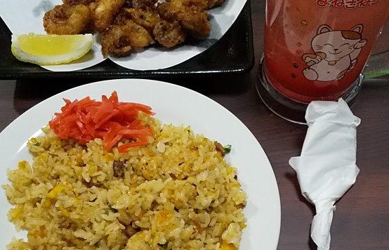 【優待ご飯】コシダカホールディングス (2157)の「カラオケまねきねこ」で「五目チャーハン、タコの唐揚げ」を食べてきました♪