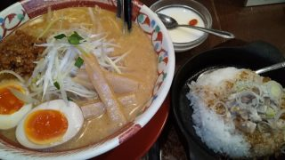 【優待ご飯】ギフト (9279)の「赤みそ家 白河店」で「赤みそ家Bセット(赤みそ家ラーメン、セット用鉄板焼き飯、ひとくち杏仁豆腐)」を食べてきました♪