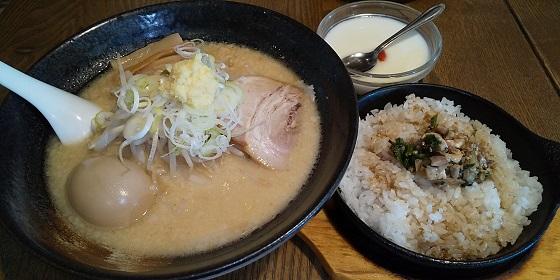 【優待ご飯】ギフト (9279)の「麺みの作」で「Cセット(白味噌麺、鉄焼き飯、杏仁豆腐)」を食べてきました♪
