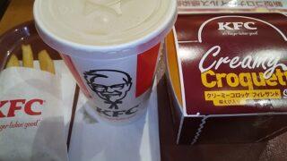 【優待ご飯】日本KFCホールディングス (9873)の「ケンタッキー」で「クリーミーコロッケフィレサンドセット」を食べてきました♪