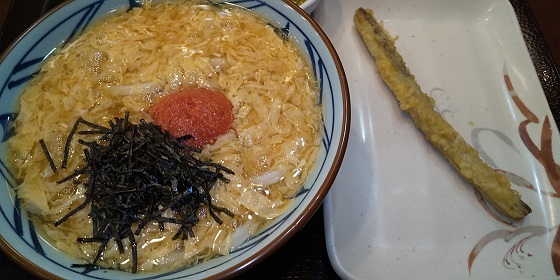 【優待ご飯】トリドールホールディングス (3397)の「丸亀製麺」で「明太玉子あんかけうどん 」を食べてきました♪