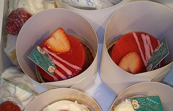 【雑記】すかいらーくHD(3197)の「フロプレステージュ」で「ホワイトデー限定のケーキなど」を買ってきました♪