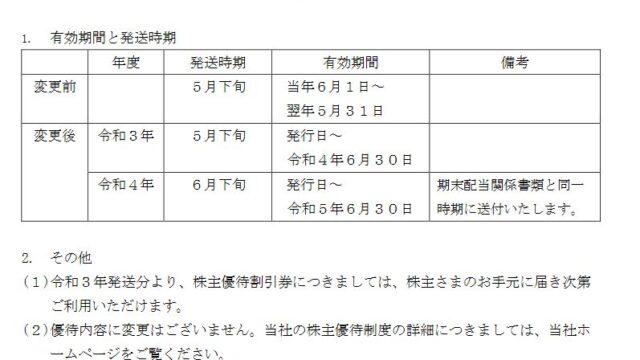 【株主優待】東海旅客鉄道 (9022)の株主優待割引券の有効期限と発送時期変更!