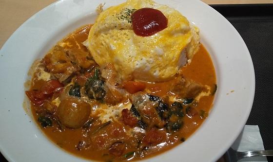 【優待ご飯】松屋フーズホールディングス (9887)の「マイカリー食堂」で「バターチキンオムレツカレー(大盛り) 」を食べてきました♪