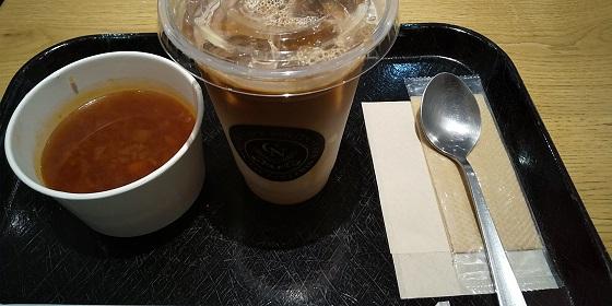 【優待ご飯】クリエイト・レストランツ・ホールディングス[クリレス] (3387)の「CAFE NOLITA」で「カフェラテ、本日のスープ」を飲んできました♪