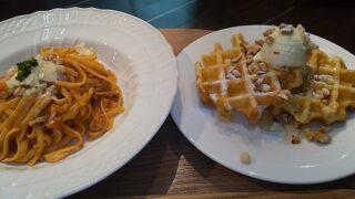 【優待ご飯】ドトール・日レスホールディングス (3087)の「エクセルシオール カフェ」で「クリーミーボロネーゼ、ワッフルプレート ハニー&クリームチーズ」を食べてきました♪