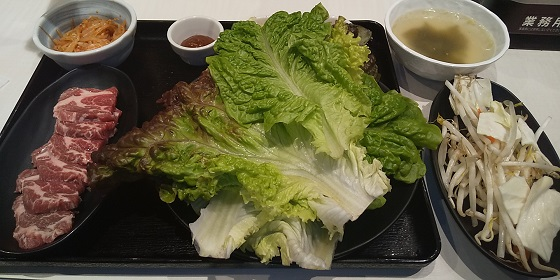 【優待ご飯】一家ダイニングプロジェクト (9266)の「大衆ジンギスカン酒場 ラムちゃん」で「ラムギョプサルセット」を食べてきました♪