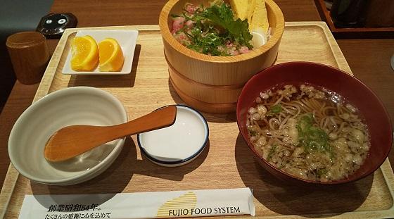 【優待ご飯】フジオフードグループ本社(2752)の優待食事券で「うちの食堂」の「ねぎとろおひつ御膳」を食べてきました♪