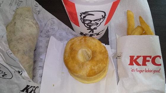 【優待ご飯】日本KFCホールディングス (9873)の「ケンタッキー」で「ツイスターセット、アンケート回答の50円ビスケット」を食べてきました♪♪
