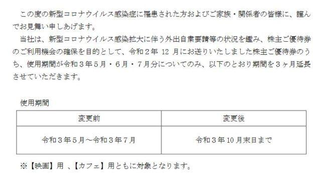 【株主優待】中日本興業 (9643)の使用期限2021年5月~7月分の有効期間を延長!2021年10月末までに!