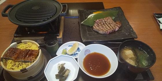 【優待ご飯】クリエイト・レストランツ・ホールディングス[クリレス] (3387)の「かごの屋」で「鰻せいろご飯とサーロインステーキ定食」を食べてきました♪