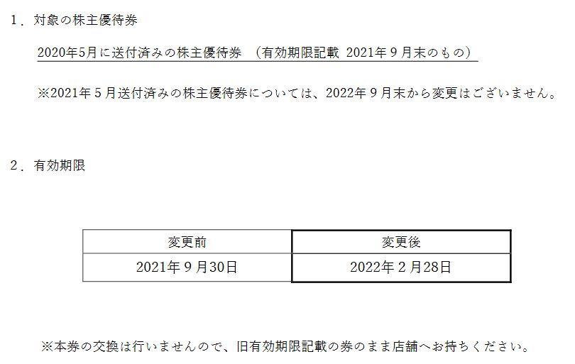 【株主優待】ハブ (3030)の株主優待期限 再延長! 2021年9月30日→2022年2月28日に!