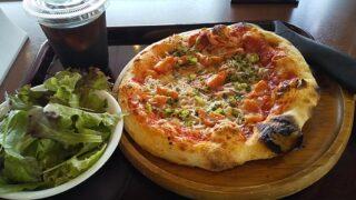 【優待ご飯】松屋フーズホールディングス (9887)の「cafe terrasse verte (カフェ・テラス・ヴェルト)」で「しらすとチェリートマトのピザセット」を食べてきました♪