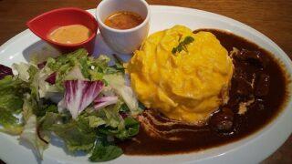【優待ご飯】すかいらーくHD(3197)の「むさしの森珈琲」で「ふわっとろオムライスプレート ビーフシチューソース(スープ付)」を食べてきました♪