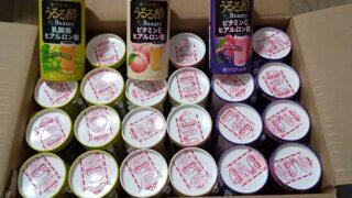 【株主優待】ヤマウラ (1780)から2021年3月権利の3,000円相当地場商品カタログで選択した「食べる前のうるる酢セット 3種 25本」が到着しました!