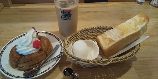 【優待ご飯】コメダホールディングス (3543)の「コメダ珈琲店」で「モーニングA(定番ゆでたまご)、ミニシロノワール」を食べてきました♪