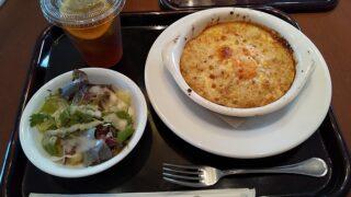 【優待ご飯】松屋フーズホールディングス (9887)の「cafe terrasse verte (カフェ・テラス・ヴェルト)」で「本日のドリア(ランチサラダ、ドリンク付き)」を食べてきました♪