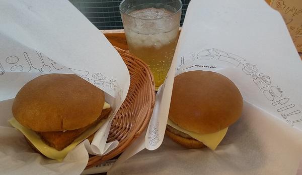 【優待ご飯】モスフードサービス (8153)の「モスバーガー」で「チーズバーガー、フィッシュバーガー、甘夏 ジンジャーエール」を食べてきました♪