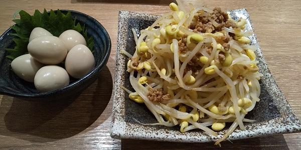 【優待ご飯】NATTY SWANKY(7674)の「肉汁餃子のダンダダン酒場」で「肉味噌もやし、うずらの味玉、水餃子」を食べてきました♪