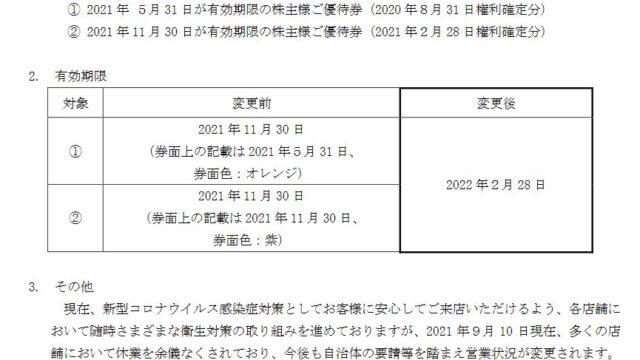 【株主優待】SFPホールディングス (3198)の株主優待期限 延長! 2021年5月31日、2021年11月30日 → 2022年2月28日に!磯丸水産などで使えます!