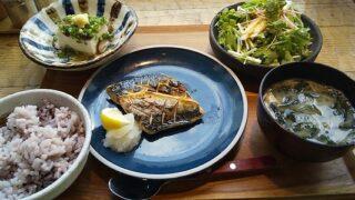 【優待ご飯】バルニバービ (3418)の「東京アスリート食堂」で「鯖の塩焼き、豆腐のステーキきのこソース、長芋のサラダの定食」を食べてきました♪