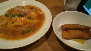 【優待ご飯】すかいらーくHD(3197)の「ガスト」で「かにあんかけたっぷり天津飯+春巻き2本セット」を食べてきました♪